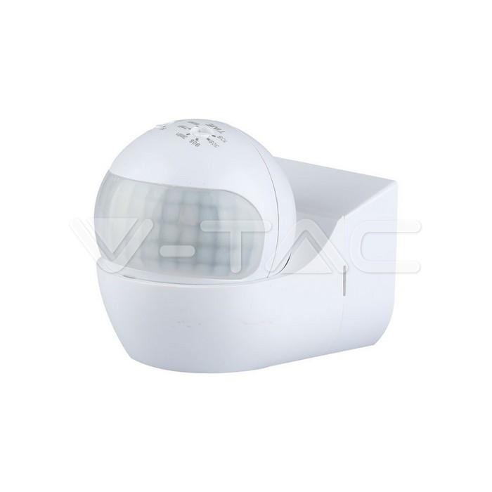 Sensore PIR da muro di colore bianco con testa orientabile