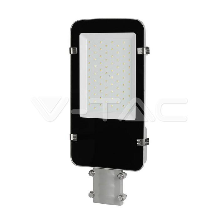 LED Armatura Stradale SAMSUNG Chip A++ 5 anni Warranty 50W Corpo Grigio 4000K