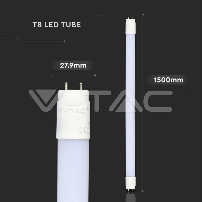 LED Tubo SAMSUNG Chip 150cm 22W A++ G13 Nano Plastica 4000K img 5