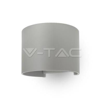 6W Lampada da parete Bridglux Chip Corpo Grigio Rotondo Bianco caldo