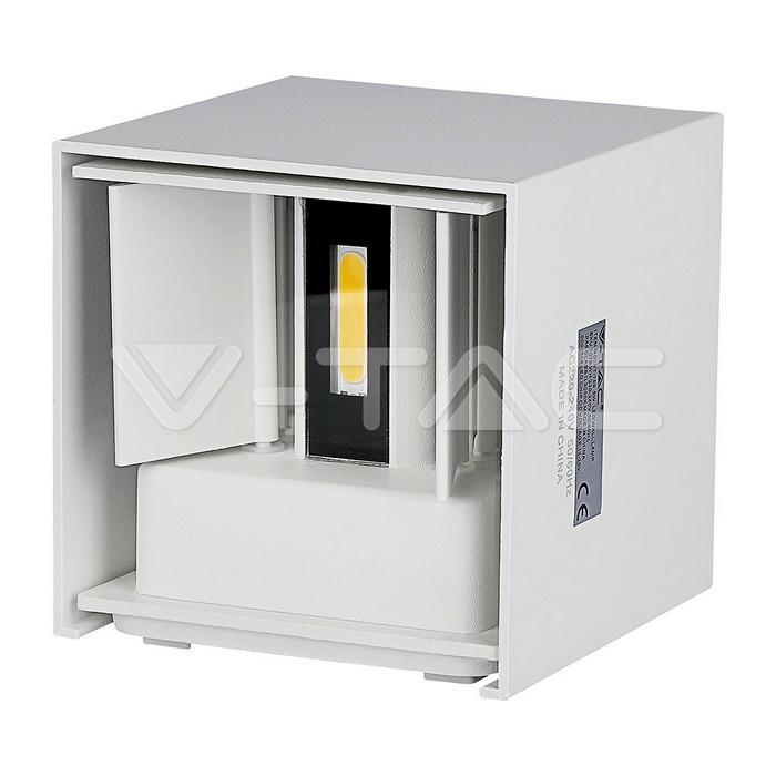 6W Lampada da parete LED Corpo Bianco Quadrato IP65 Bianco caldo