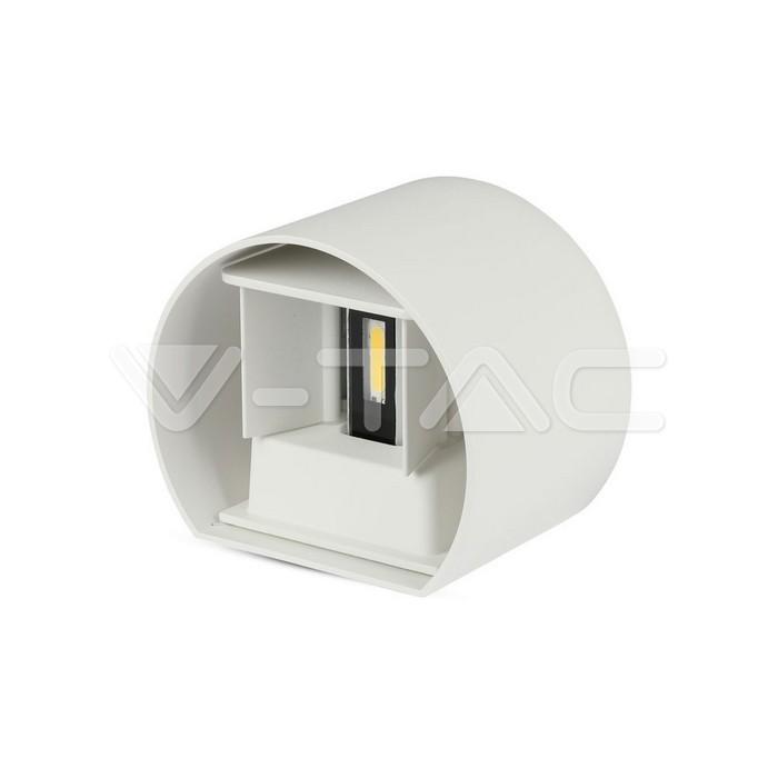 6W Lampada da parete LED Corpo Bianco Rotondo IP65 Bianco caldo