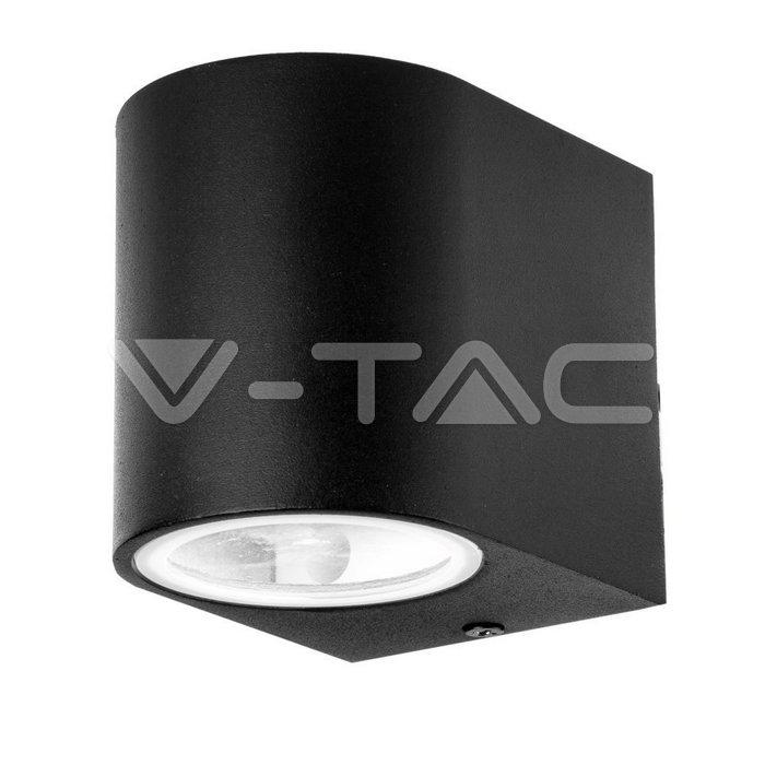 Portafaretto da Muro GU10 Alluminio Rotondo Nero a 1 Uscita