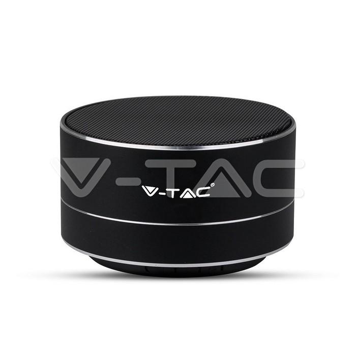 Metal Bluetooth altoparlante portatile Mic & TF Card Slot 400mah Batteria Corpo Nero