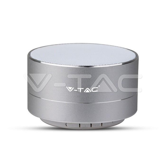 Metal Bluetooth Bluetooth altoparlante Mic & TF Card Slot 400mah Batteria Corpo Argento
