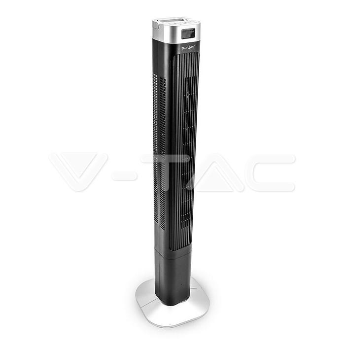 55W LED Ventilatore a torretta 46 Inch Nero