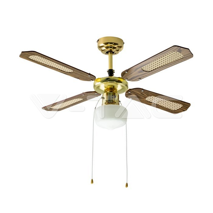 1 x E27 LED Ventilatore a soffitto 4 pale 50W motore AC