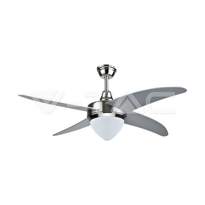 15W 3 in 1 LED Ventilatore da soffitto RF Kontrol 4 pale Motore 60W AC