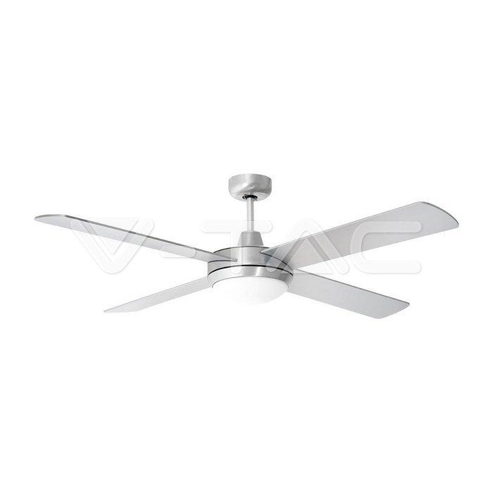 2 x E27 LED Ventilatore a soffitto Telecomando 4 pale