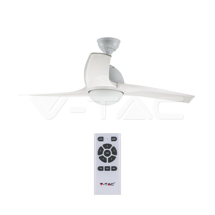 15W 3 in 1 LED Ventilatore a soffitto Controllo RF 3 pale Motore bianco 35W DC