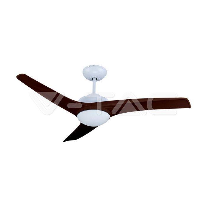 15W 3 in 1 LED Ventilatore a soffitto Controllo RF 3 pale Motore marrone 35W DC
