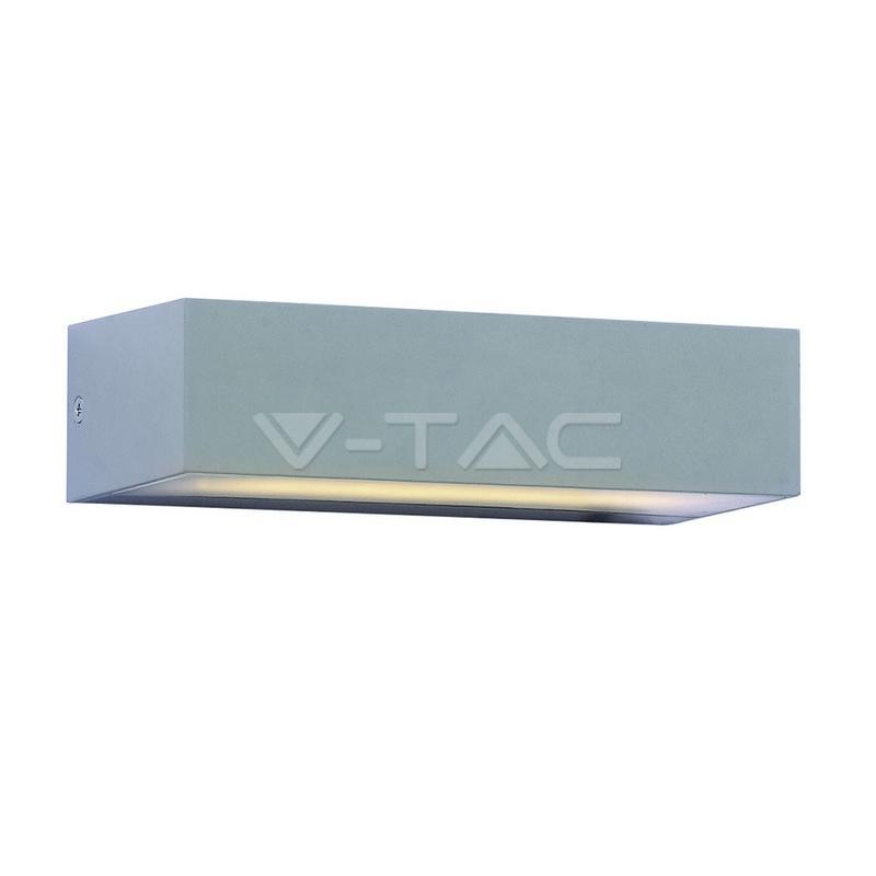 9W LED Doppia Luce per Esterno Luce Bianco Naturale Corpo Grigio IP65