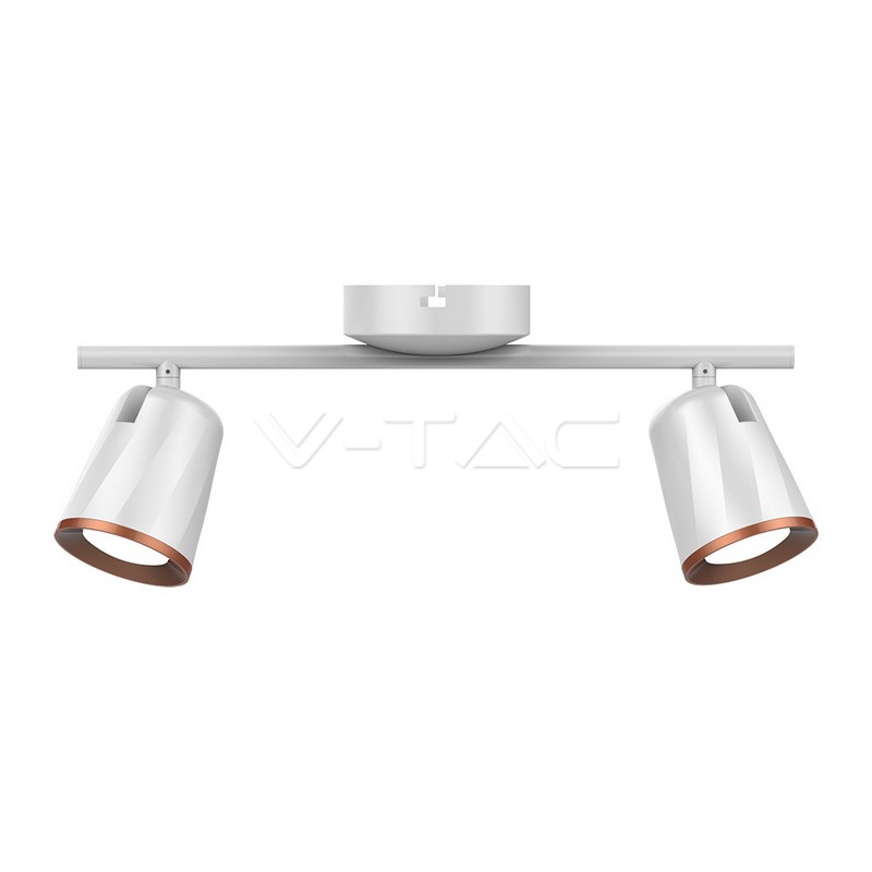 2 x 6W LED Lampada da parete Luce Bianco Caldo Corpo Bianco