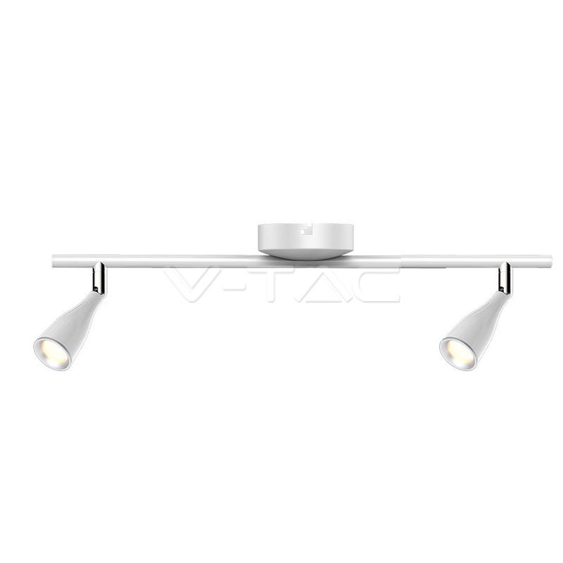 2 x 4.5W LED Lampada da parete Luce Bianco Caldo Corpo Bianco