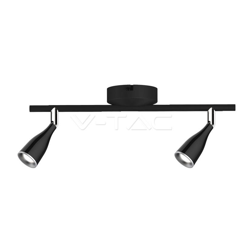 2 x 4.5W LED Lampada da parete Luce Bianco Caldo Corpo Nero