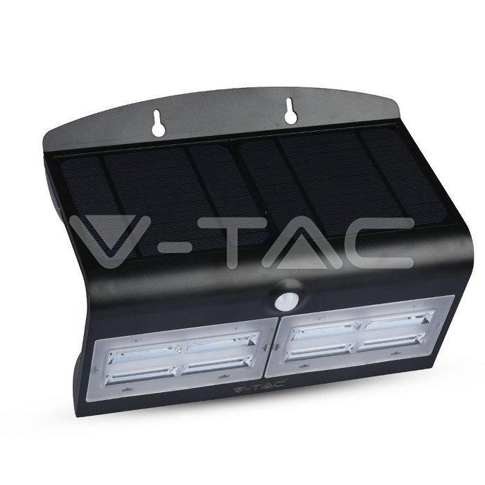6.8W LED Lampada Solare Luce Bianco Naturale Corpo Nero