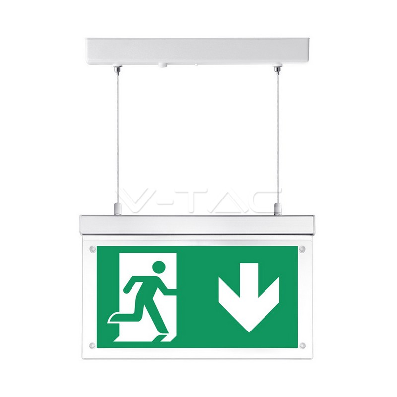 2W Surface Hanging Emergenza Exit Light 12 Hours Charging 6000K
