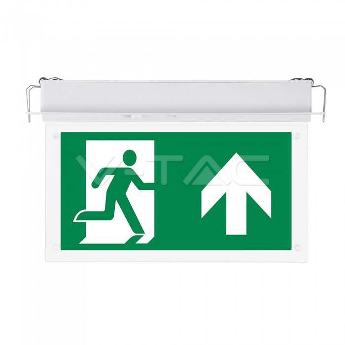2W LED Recesed Fixed Emergency Exit Light 6000K