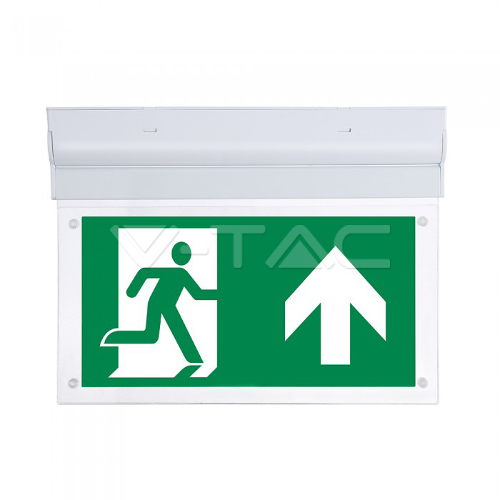 2W LED Wall Surface Emergency Exit Light 6000K
