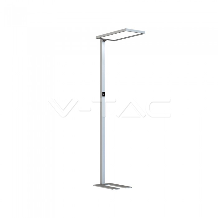 80W LED Floor Lamp Touch Dimmerabile Up/Down Argento 4000K
