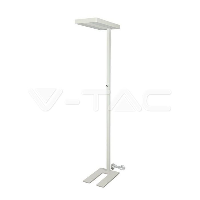 80W LED Floor Lamp Knob Dimmerabile Up/Down Bianco con angolo Rotondo 4000K
