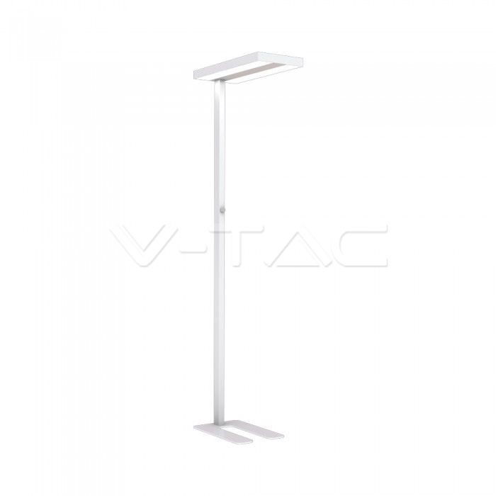 80W LED Floor Lamp Knob Dimmerabile Up/Down Bianco con angolo a 90 gradi 4000K