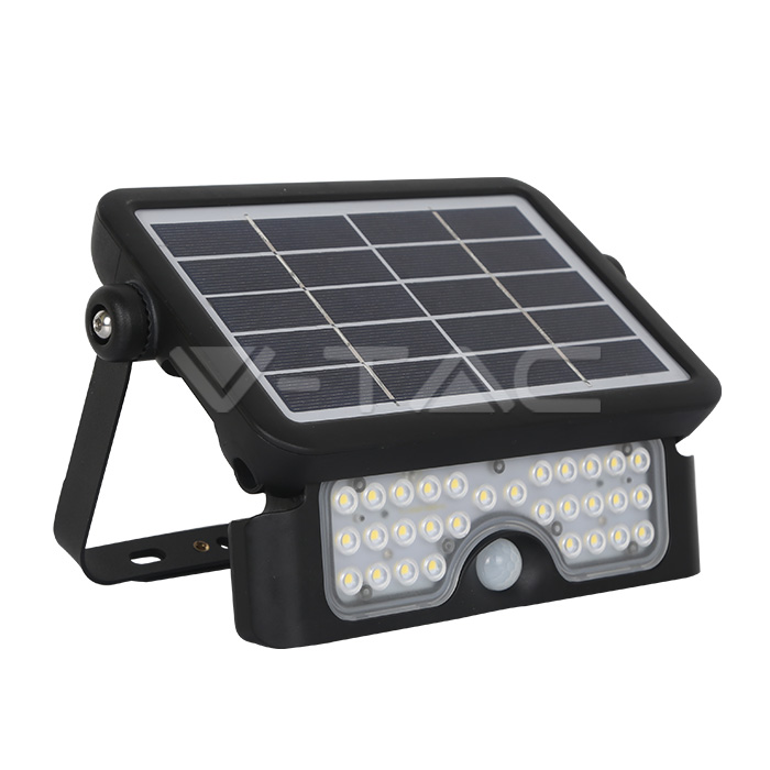 5W LED Lampada Solare Corpo Nero 4000K