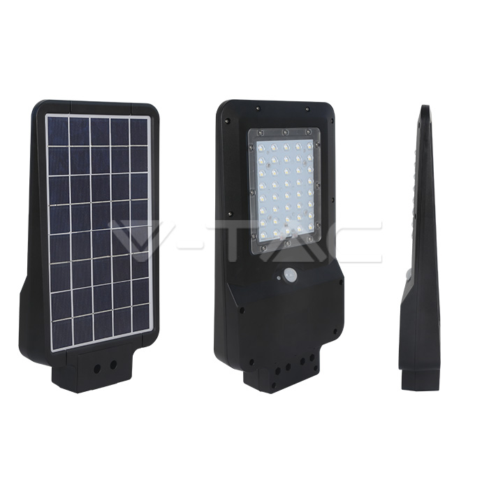15W LED Lampada Solare Corpo Nero 6000K