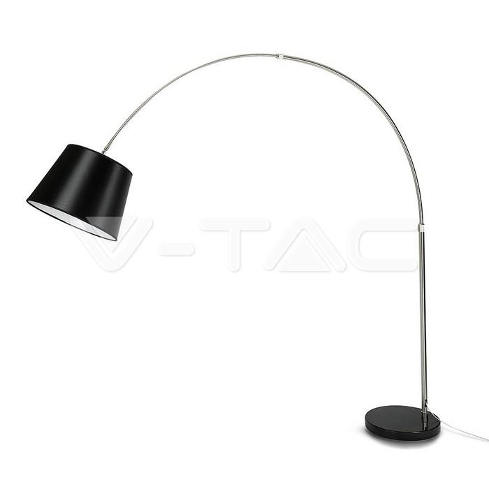 LED Floor Lamp E27 Black Lamp Shade