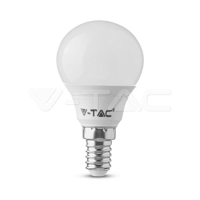 Lampadina LED SAMSUNG Chip 5.5W E14 P45 Plastica Bianco Caldo