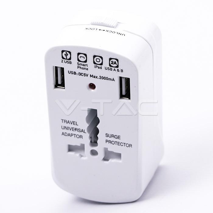 Adattatore universale Protezione da sovraccarico USB 2A